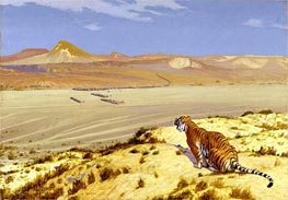 Tiger on the Watch, c.1888 by Gerome | Painting Reproduction