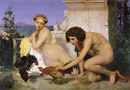 Young Greeks Encouraging Cocks to Fight, 1846 by Gerome | Painting Reproduction