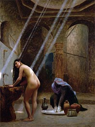 The Moorish Bath, undated by Gerome | Painting Reproduction
