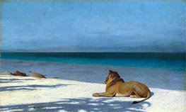 Solitude, 1890 by Gerome | Painting Reproduction