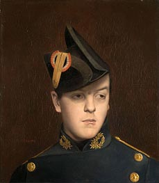 Portrait of Armand Gerome, 1848 by Gerome | Painting Reproduction