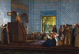 Sermon in the Mosque, 1903 by Gerome | Painting Reproduction
