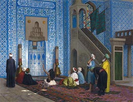 Rustem Pasha Mosque, Istanbul, undated by Gerome | Painting Reproduction