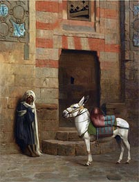 Egyptian Donkey, undated by Gerome | Painting Reproduction
