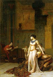 Cleopatra Before Caesar, 1866 by Gerome | Painting Reproduction