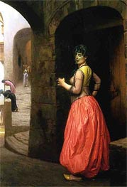 Woman from Cairo Smoking a Cigarette, 1882 by Gerome | Painting Reproduction
