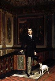Duc de la Rochefoucauld Doudeauville with His Terrier, 1875 by Gerome | Painting Reproduction