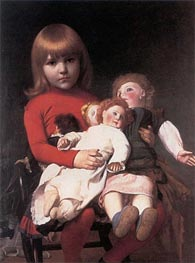 Madeleine Gerome and Her Dolls, undated by Gerome | Painting Reproduction