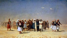 Egyptian Recruits Crossing the Desert, 1857 by Gerome | Painting Reproduction