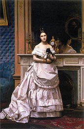 Portrait of Marie Gerome, 1870 by Gerome | Painting Reproduction