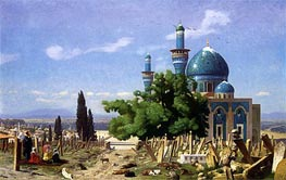 The Green Mosque at Broussa, 1876 by Gerome | Painting Reproduction