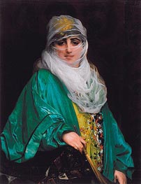 Woman from Constantinople, 1876 by Gerome | Painting Reproduction