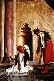 Young Greeks at a Mosque, 1865 by Gerome | Painting Reproduction