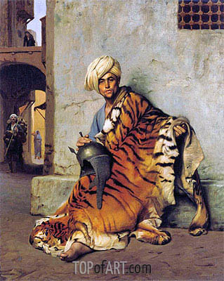 Pelt Merchant of Cairo, 1880 | Gerome| Gemälde Reproduktion