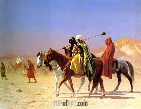 Gerome | Arabs Crossing the Desert, 1870