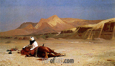 The Arab and his Steed (In the Desert), 1872 | Gerome| Gemälde Reproduktion