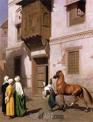 Cairene Horse Dealer (The Horse Market), 1867 | Gerome | Gemälde Reproduktion