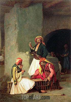 Arnauts Playing Chess (The Draught Players), 1859 | Gerome| Painting Reproduction