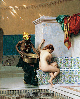 Gerome | Moorish Bath, Two Women (Turkish Bath), 1870