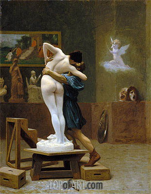 Pygmalion and Galatea, c.1890 | Gerome | Gemälde Reproduktion