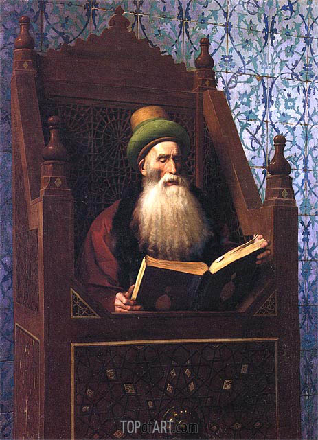 Gerome | Mufti Reading in His Prayer Stool, c.1900