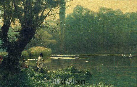 Summer Afternoon on a Lake, c.1895 | Gerome| Painting Reproduction