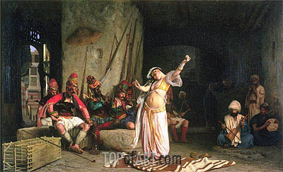 The Dance of the Almeh (The Belly-Dancer), 1863 | Gerome| Painting Reproduction