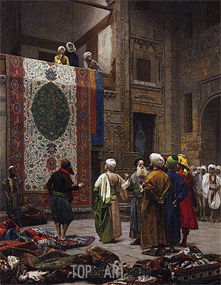 The Carpet Merchant, c.1887 | Gerome| Painting Reproduction