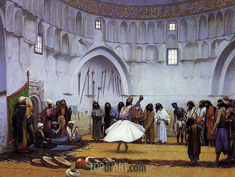 Whirling Dervishes, 1899 | Gerome| Painting Reproduction
