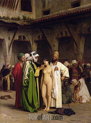 The Slave Market, c.1866/67 | Gerome | Painting Reproduction