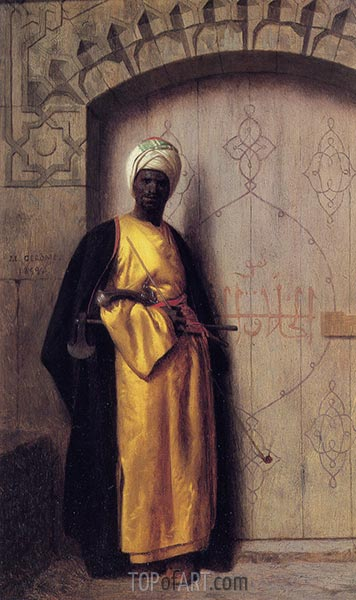 The Guard of the Harem, 1859 | Gerome | Gemälde Reproduktion