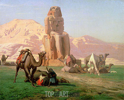 The Colossus of Memnon, 1857 | Gerome| Painting Reproduction