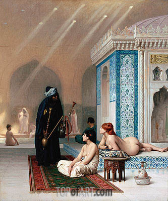 Pool in a Harem, c.1876 | Gerome| Painting Reproduction