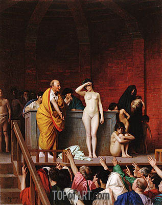 Gerome | Slave Market in Ancient Rome, c.1884