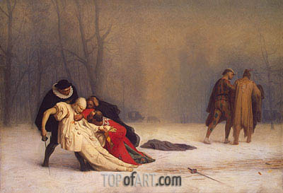 Duel after a Masked Ball, 1857 | Gerome| Painting Reproduction