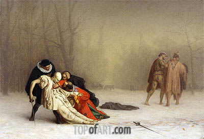 The Duel After the Masquerade, c.1857/59 | Gerome| Painting Reproduction