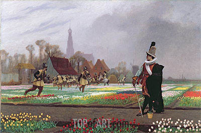 The Tulip Folly, 1882 | Gerome| Painting Reproduction
