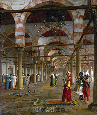 Prayer in the Mosque, 1871 | Gerome| Painting Reproduction