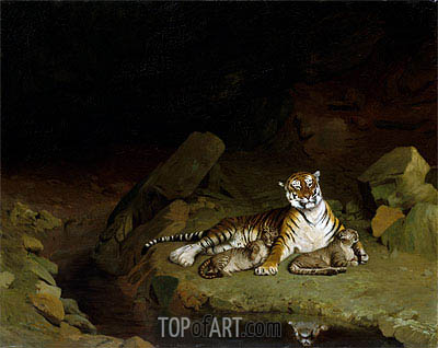 Gerome | Tiger and Cubs, c.1884