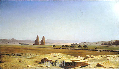 The Plain of Thebes in Upper Egypt, 1857 | Gerome| Painting Reproduction