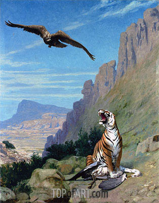 Tiger and Vulture, undated | Gerome| Painting Reproduction