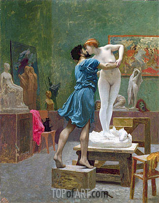 Gerome | Pygmalion and Galatea, undated