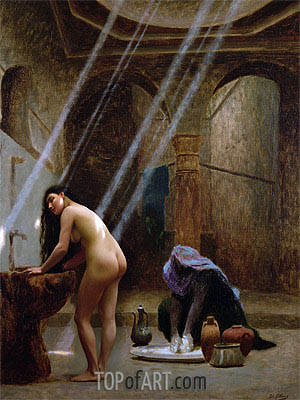The Moorish Bath, undated | Gerome| Painting Reproduction