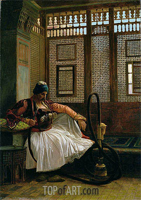 Arnaut Smoking, undated | Gerome | Painting Reproduction