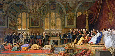 The Reception of Siamese Ambassadors by Emperor Napoleon III at the Palace of Fontainebleau, 1861 | Gerome | Painting Reproduction