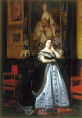 Gerome | Baroness Nathaniel de Rothschild, 1866