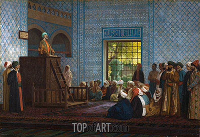 Sermon in the Mosque, 1903 | Gerome| Painting Reproduction