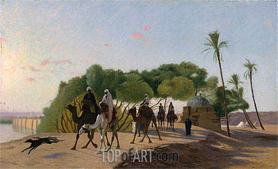Leaving the Oasis, c.1880/90 | Gerome| Painting Reproduction