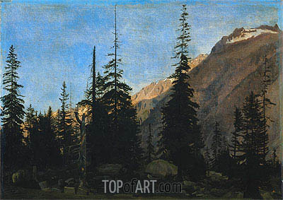Alpine Landscape: The Handegg, Switzerland, c.1850 | Gerome | Painting Reproduction