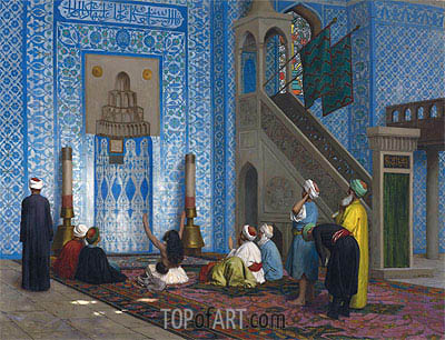 Rustem Pasha Mosque, Istanbul, undated | Gerome | Painting Reproduction